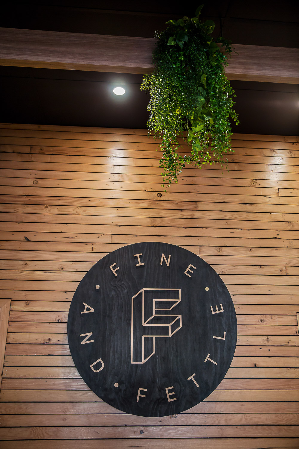 Fine & Fettle Cafe - Recycled Timber Feature Wall